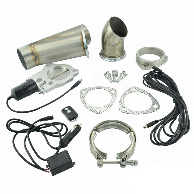 ФОТО 2.25 Inch Stainless Steel Headers Y Pipe Electric Exhaust Cutout Kit With Remote Control Exhaust Cut Out Catback Down Pipe Kit