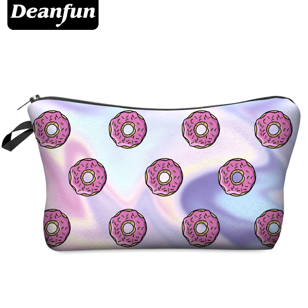 Deanfun 2016 3D Printing Large Cosmetic Bag Fashion Women Brand H26 deanfun travel cosmetic bag 2016 hot selling women brand small makeup case 3d printing christmas gift water pig h46