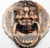 Dooren LT Antigo Chinês Fu Yuan cabeça de leão aldrava de porta punho punho besta unicórnio