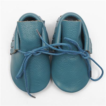 Al por mayor nueva lace up mocasines moccs suaves botas de bebé de cuero Genuino Bebé niño zapatos frings Niño zapatos bota envío gratis