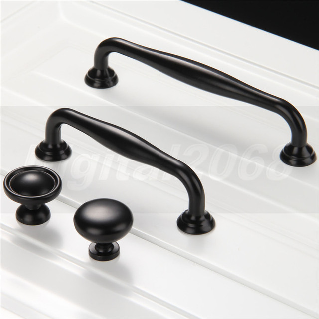 Aliexpress.com : Buy Black Zinc Alloy Simple Door Handles For ...