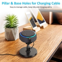 Tafel Houder Voor Echo Dot 3Rd Generatie  360 ° Verstelbare Stand Bracket Mount Voor Smart Home Speaker  verbeteren Geluid Zichtbaarheid-in Speakeraccessoires van Consumentenelektronica op