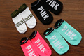 VS Love Pink Women 5 Pairs chaussette femme 100% Cotton being express it  Socks Harajuku style leisure beautiful letter Socks