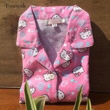 Women's Pajamas Spring Long-sleeve Cotton Flannel Sleepwear Pyjamas Trousers