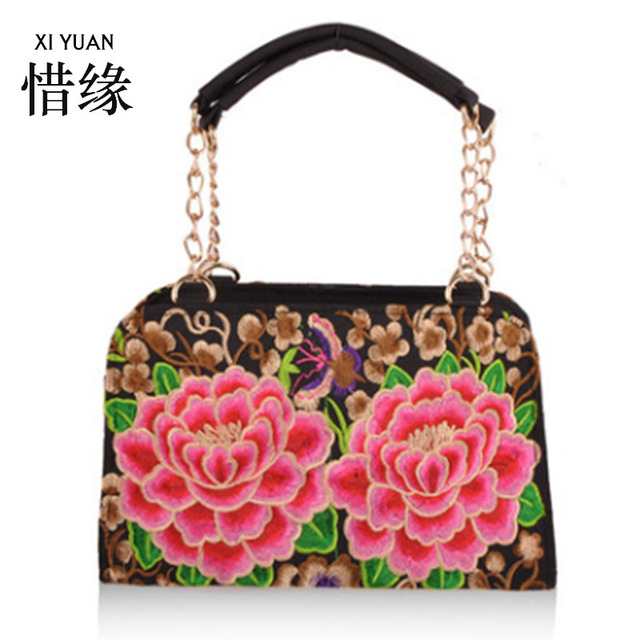 XIYUAN BRAND Exquisite and generous women's ethnic embroidery bag embroidered shoulder messeng bags,womans embroidered handbags