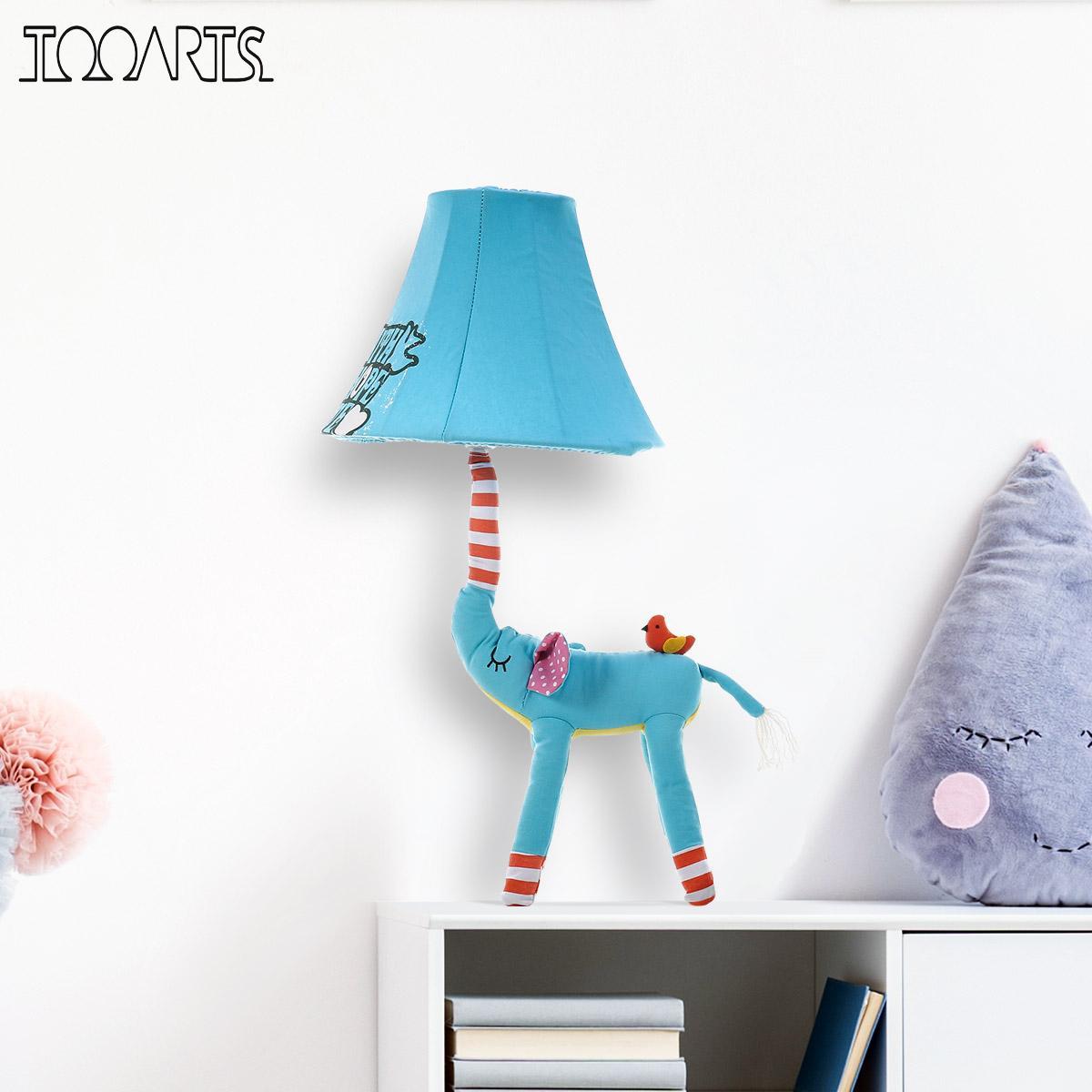 Blue Elephant Figurine Lamp Animal