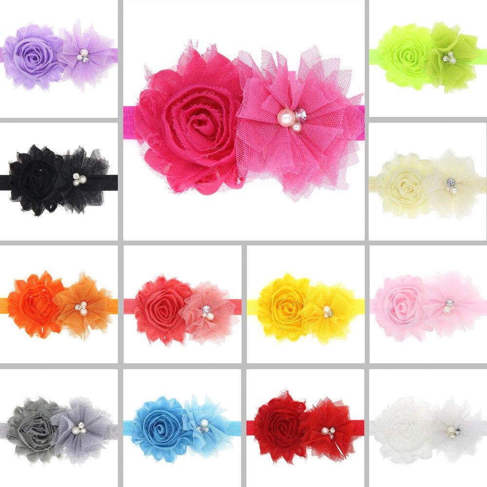 baby girl headband Infant hair accessory Tie bow newborn floral   Headwear   tiara headwrap Gift Toddlers bandage Ribbon flower