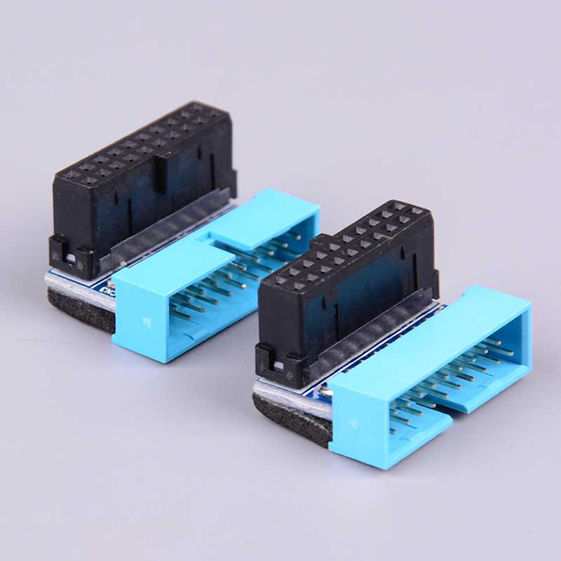 USB3.0 19P 20P Konektor 90 Derajat Papan Utama Chassis Kursi Depan Ekspansi Konektor