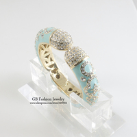 GrayBirds Luxury Jewelry Enamel Bracelets Bangles Anniversary Gift For Women High Quality Fashion Jewelry Diameter 5.6cm GB0607