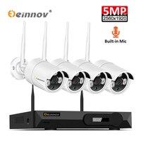 Einnov 5MP H.264+ 8CH NVR Kit Home Wireless Security Camera Video Surveillance Wifi Audio IP Camera HD Set Remote Control IR Cut