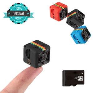 Image 1 - SQ11 hd小型ミニカメラカム1080 1080pビデオセンサーナイトビジョンビデオカメラマイクロカメラdvrモーションレコーダービデオカメラ平方11