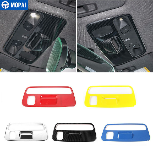 MOPAI ABS Car Interior Roof Reading Light Lamp Decoration Cover Stickers for Chevrolet Camaro 2017 Up Car Accessories Styling