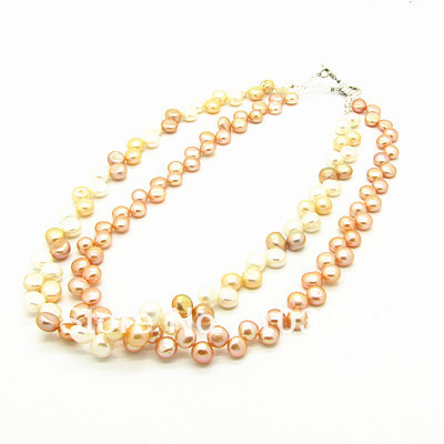 Wholesale Jewelry Necklace Fashion 42cm  Freshwater beads Necklace, 1pcs/lot Cheap Jewelry Free Shipping HB671