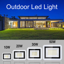 10w 20w 30w 50w Led Floodlight Outdoor Security Lights Warm White/ Cold White for Garage Garden Lawn and Yard