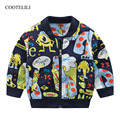 COOTELILI Весенняя верхняя одежда для активного отдыха, куртка-бомбер для маленьких девочек, куртка для маленьких мальчиков, одежда для детей ...