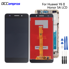For Huawei Honor 5A Y6II LCD Display Panel with Touch Screen Digitizer 5.5'' Full Assembly Frame Y6 II 2 CAM-L21 LYO-L01 Screen 37m11hm logic board v370b1 c01 with v370b1 l01 screen