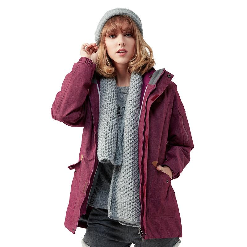 Camping extérieur femme Long Sports d'hiver thermique chaud randonnée vestes imperméable veste femmes chasse vêtements rouge S 2XL taille