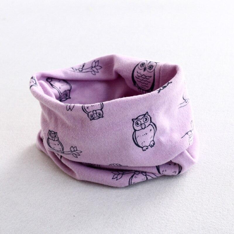 Осенне-зимний детский хлопковый шарф для девочек и мальчиков теплые шарфы Детский круглый кольцевой ошейник Детский шарф детский волшебный шейный платок - Цвет: owl 8