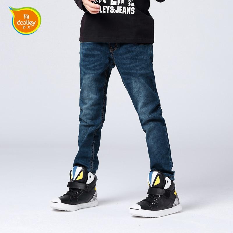 DOOLLEY Boy Fashion Jeans Denim Pants 2016 New Arrival Kids Long Pants Autumn Winter Clothing Size 110-150 cm