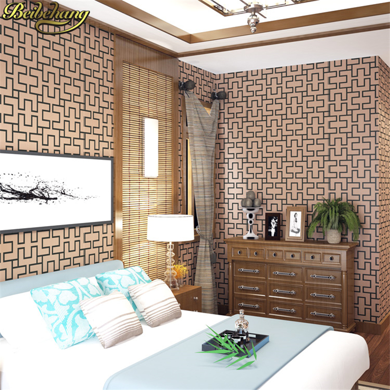 beibehang papel de parede. Designer Asian style Engineering Lattice textured vinyl wallpaper Hotel corridor background decorbeibehang papel de parede. Designer Asian style Engineering Lattice textured vinyl wallpaper Hotel corridor background decor