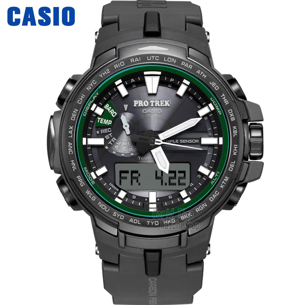 Casio watch Six Board radio solar energy multi - sensor waterproof climbing table PRW-S6100Y-1P casio watch solar outdoor sports climbing table waterproof male watch prw 3000 1a prw 3000 1d prw 3000 2b prw 3000 4b