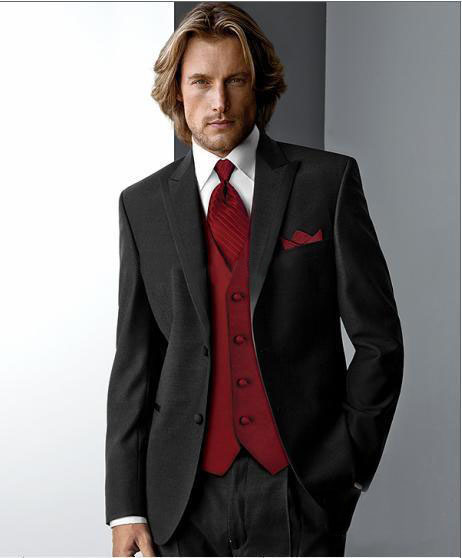Red And Grey Suit - Lxmsuite