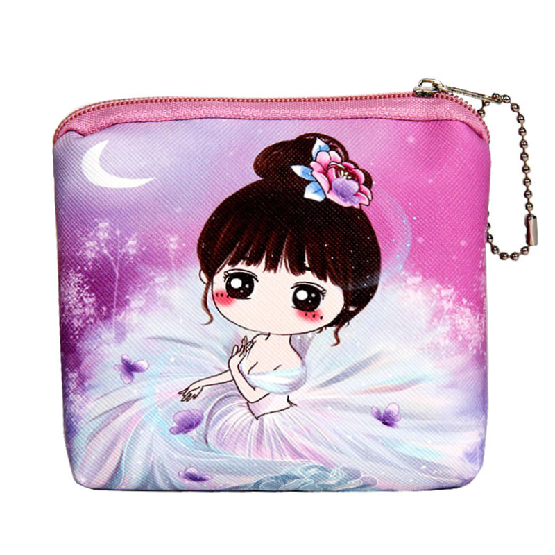 Leather Coin Purse Baby Girl Cartoon Wallet For Children Zipper Kawaii Bag Coin Pouch Kids Purses Card Holder Women Coin Wallet