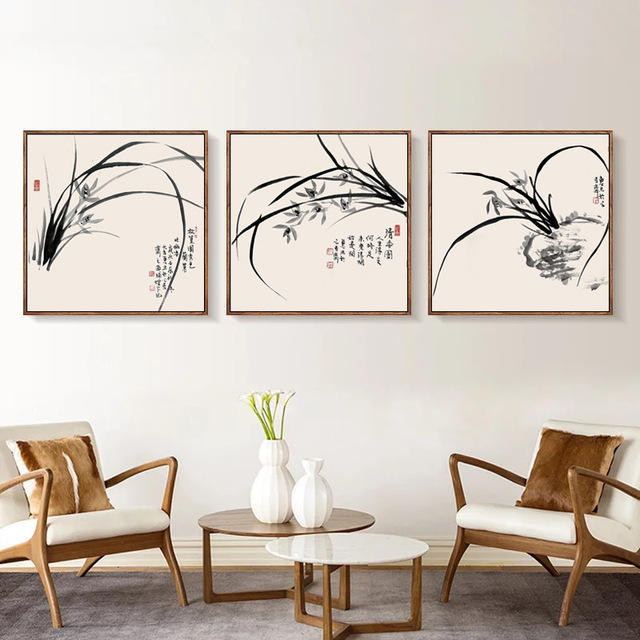 New Chinese Living Room Decoration Painting Restaurant Wall Hanging Portraits Meter Box Bedroom Modern Minimalist