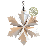 Árbol de Navidad seis puntas Golden Snowflake cristal colgante Colgantes Crystal suncatchers PRISM x'mas boda cortina Decoración