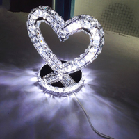 A1 offer boutique wedding Home Table lamp Furnishing modern living bedroom bedside lamp crystal lamp heart shaped led person
