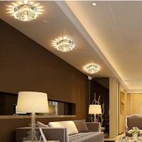 Nowoczesne Wielu power led światła korytarz korytarz oświetlenie kryształowe lampy sufitowe Europejskiej stylowe 90-260 V Ganek światła Sufit światła