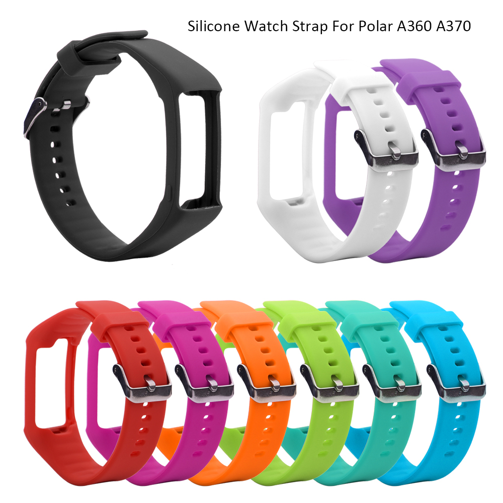 Silicone Watchband For Polar A360 A370 Wristband Silicone WristStrap Smart Bracelet Replacement  For Polar Fitness Tracker