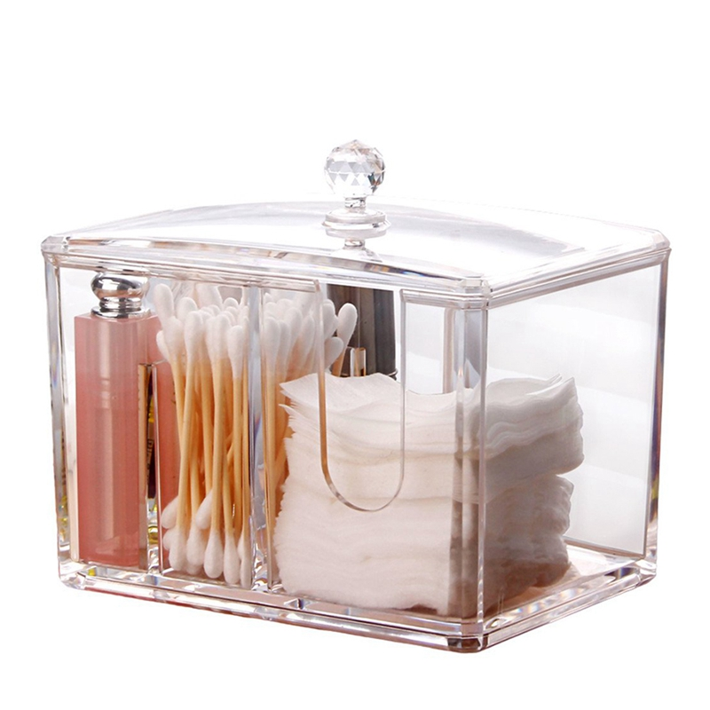 Cotton Pads Holder Makeup Organizer Cosmetics Makeup Cotton Swab Holder Cotton Pads Dispenser(China)