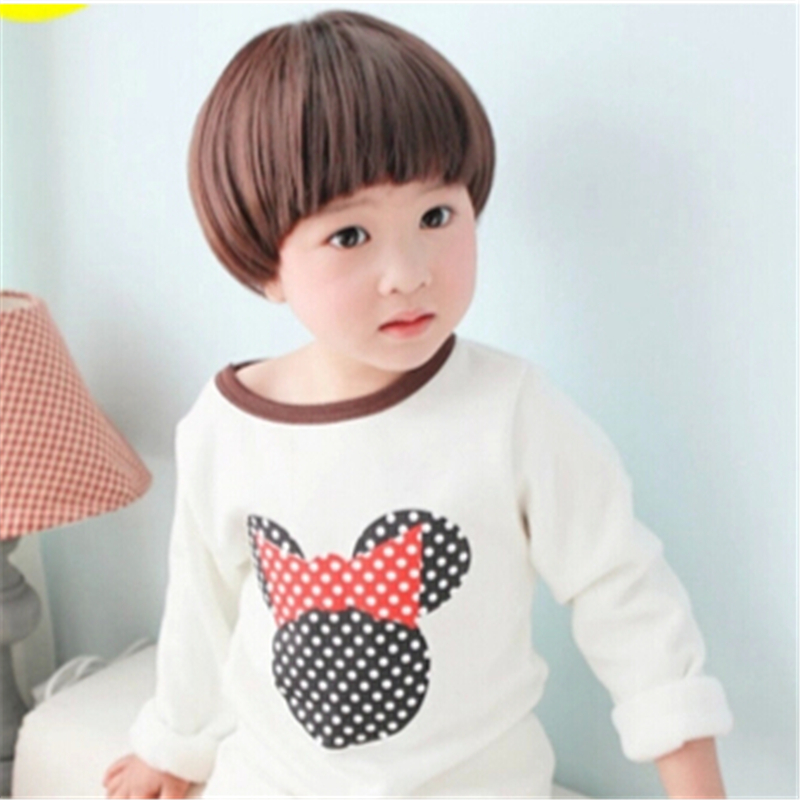 Cheap Baby Kids Short Bob Bowl Cut 2 Colors Heat Resistant Synthetic