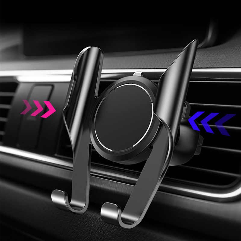 Soporte Universal para teléfono móvil con Clip de montaje de ventilación de aire para iPhone con rotación de 360 grados para coche memoria