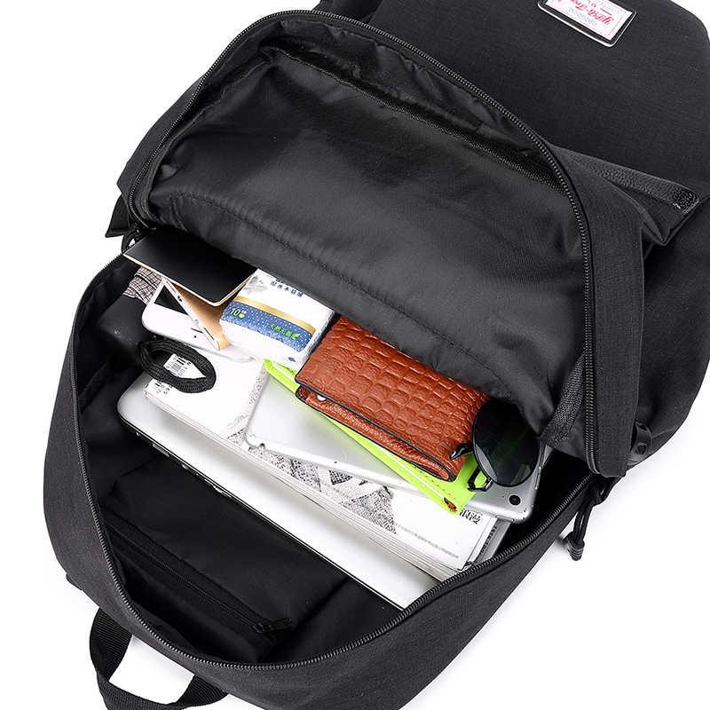 ZENBEFE Merek Tas Sekolah Untuk Remaja Tas Sekolah Mode Ransel Hari Businsess 15 Inch Laptop Ransel pria Travel Ransel