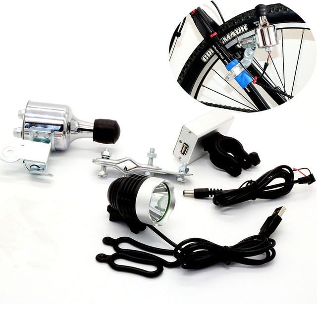 T6 LED Bike Light Fiets Front light Koplamp 12V6W Wrijving Generator ...