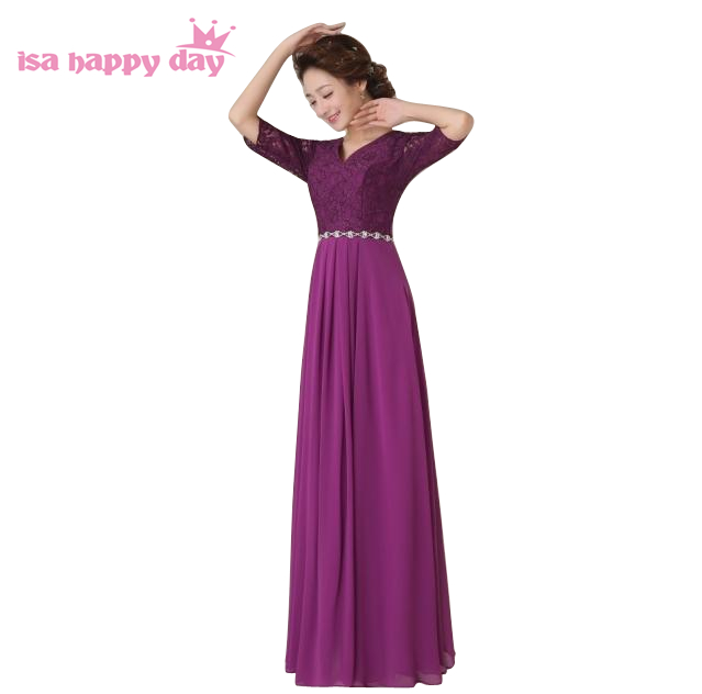 royal blue purple women top long shoulder sexy autumn 2018 party dress bridal dresses with half sleeve rhinestones W2779