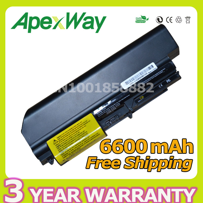 Apexway 9 Cell laptop Battery for IBM LENOVO ThinkPad T60 T60p T61 T61p R500 T500 W500 SL400 R50 Z60 92P1133 42T4619 92P1138 new original for lenovo for ibm for thinkpad z60 z60m z61m laptop fan