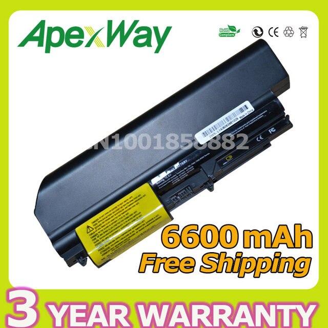 Apexway 9 Cellules batterie dordinateur portable pour IBM LENOVO ThinkPad T61 T61p R500 W500 SL400 R50 Z60 92P1133 42T4619 92P1138