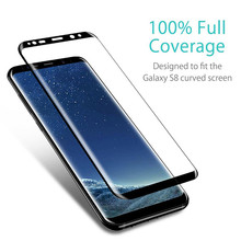 3D Curved Edge Full Cover Tempered Glass for Samsung S 9 S9 Plus Screen Toughened Protective Film 8 S8