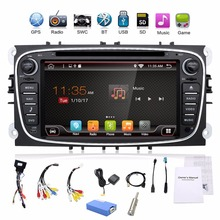 car radio 2 din Android 6.0 car dvd cassette player for ford focus 2 cars tape recorder gps navigation with wifi steering wheel