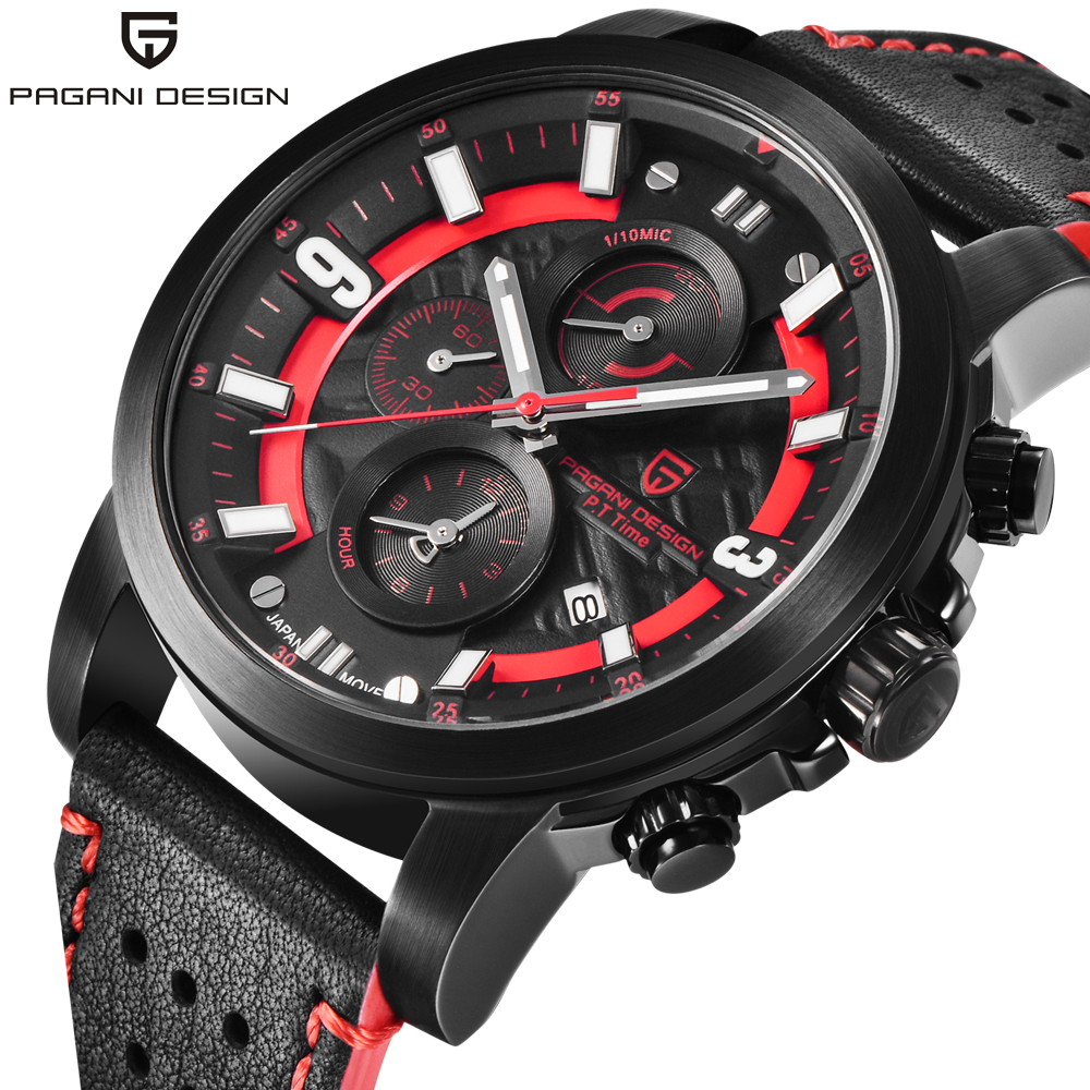 PAGANI DESIGN 2019 Luxury Brand Waterproof Quartz Watch Fashion Military Men Wrist Watch Countdown Clock Saat