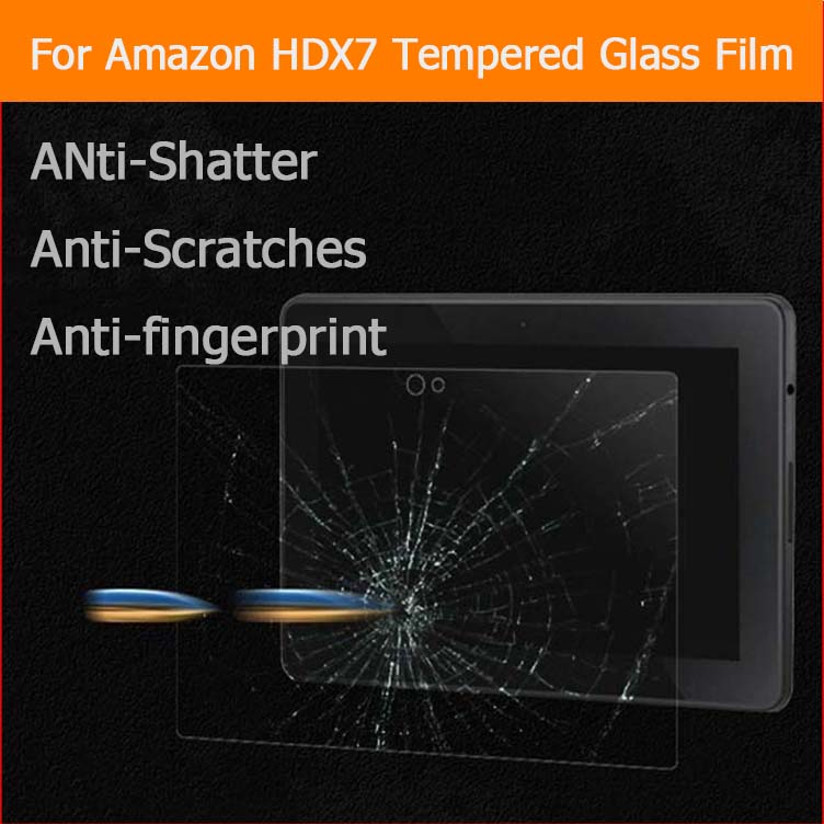 9H 2.5D Tempered Glass Screen Protector Film For Amazon Kindle Fire HDX 7 HDX7 7 inch Anti-Shatter Glass Film Guard