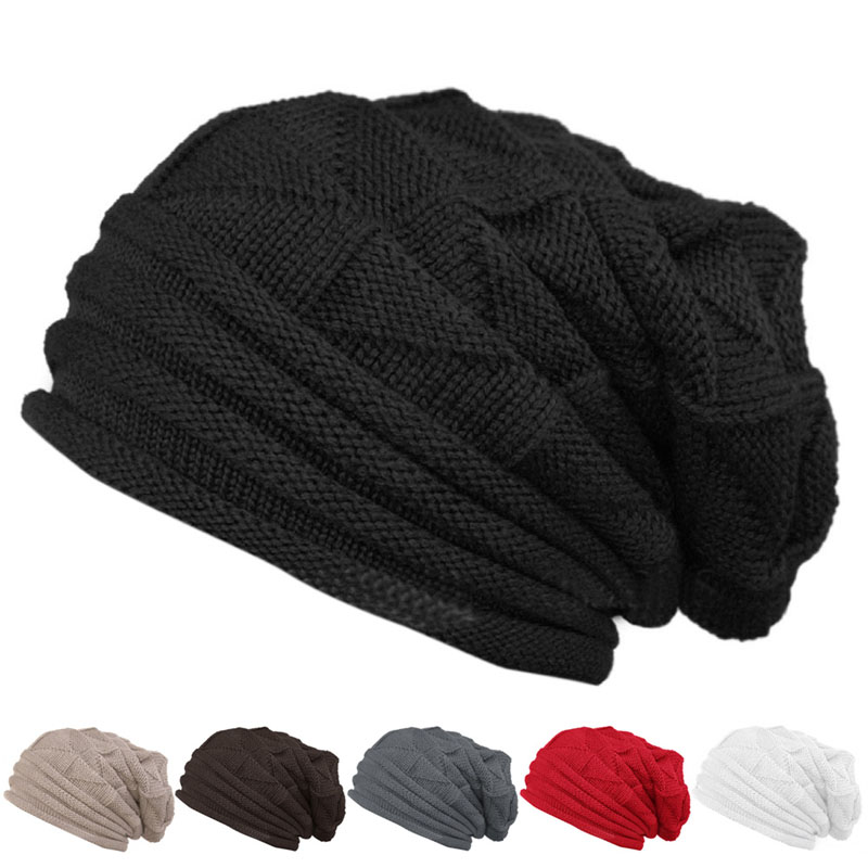 6 Colors Spring Autumn Winter Men Women Winter Warm Cap Oversize Crochet Warm Knitted Beanie Fashion Hat mulinsen latest lifestyle 2017 autumn winter men
