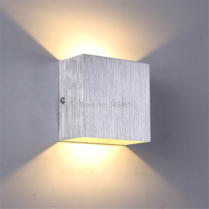 3w led wall lamp 10cm10cm5cm luminaire apliques pared lamparas de pared wall mount light lamp for bedroom white warm white in led indoor wall lamps