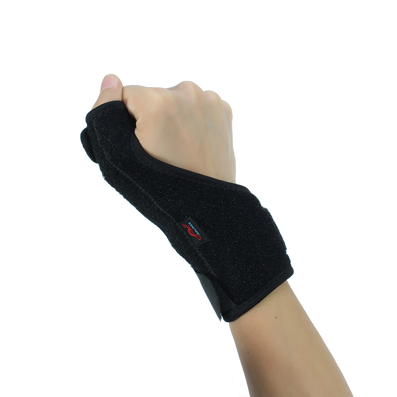 AOLIKES 1PC Adjustable Thumbs Bracer Wrist Support Protects Fingers Wrist Supports Protection With Steel Bar