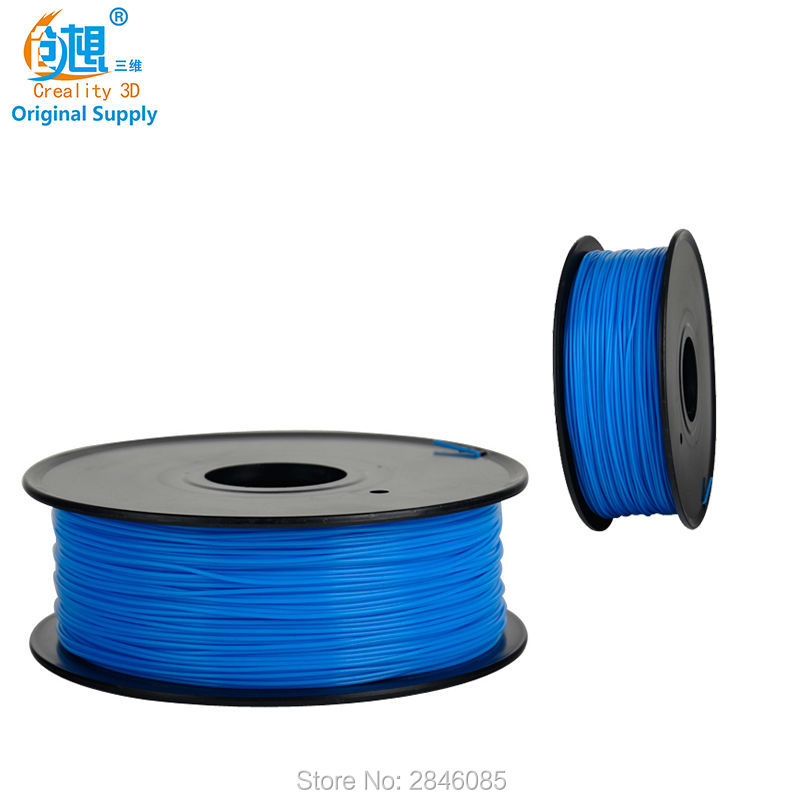 3D Printer Filaments CREALITY 3D TPU Filament Blue Color Samples 1KG/roll 1.75mm for 3D Printer /3D Pen/Reprap/Makerbot gold color simple brief 5w crystal chandelier led lamp for home aisle meeting room bar cloth shops 5w chandelier 6000k 2800k