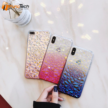 Luxury Gradient Streamer Color Case For iPhone X 8 7 6s 5s Ultra Slim Soft 6 Plus Coque Cover plated