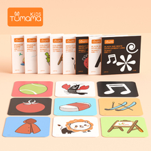 120PCS Set Baby Learning card Toys Pocket Flash Educational Fruit/Animal/Life Cognize Card for kids
